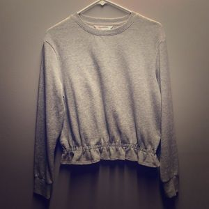 Pop sugar light weight grey sweatshirt